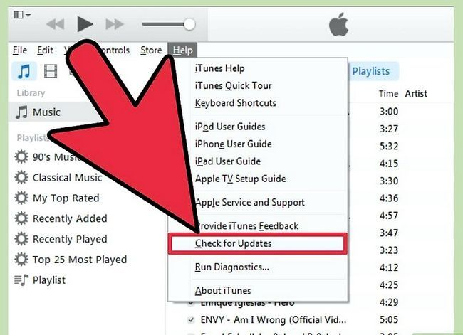 Prent getiteld Handmatig Update iTunes Stap 5