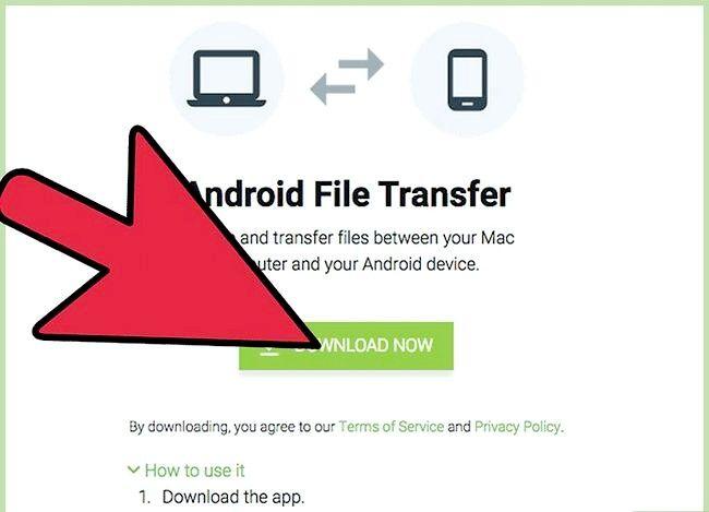Prent getiteld Bestuur lêers op Android met `n Mac Stap 1