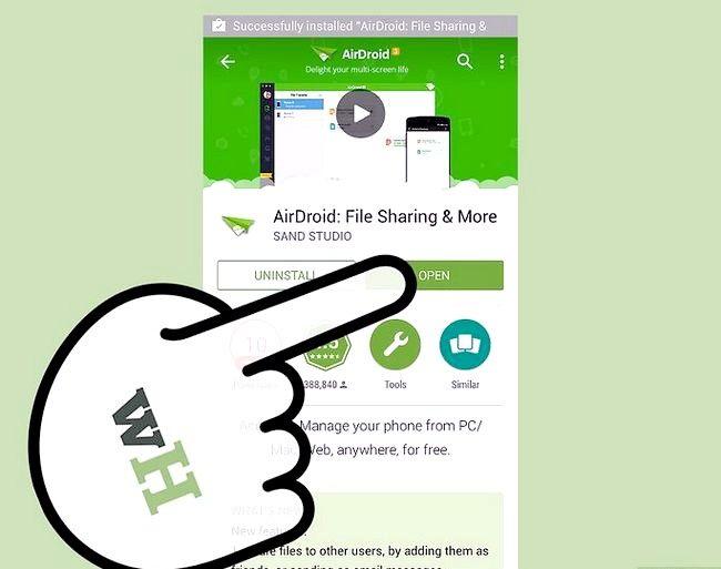 Prent titel Bestuur lêers op Android met `n Mac Stap 12