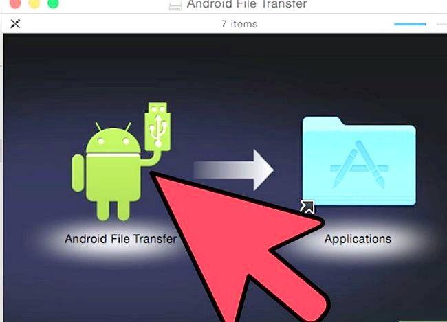 Prent getiteld Bestuur lêers op Android met `n Mac Stap 3