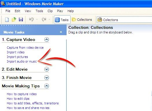 Prent titel Voeg liedjies by jou flieks op Windows Movie Maker Stap 4
