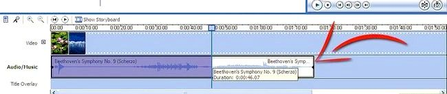 Prent titel Voeg liedjies by jou flieks op Windows Movie Maker Stap 7