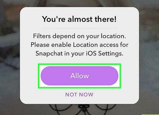 Beeld getiteld Voeg die temperatuur by Snapchat Stap 5