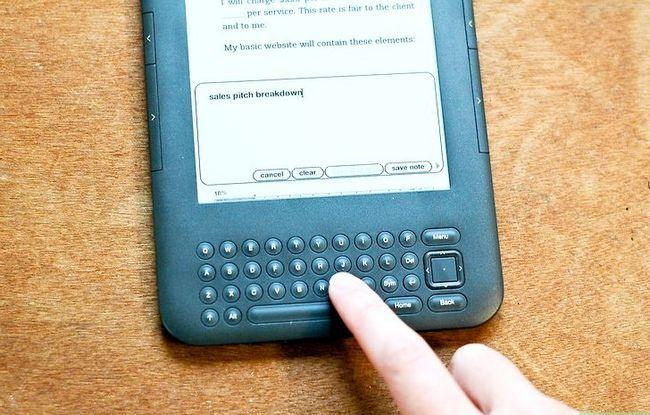 Prent getiteld Voeg notas by Kindle Stap 5