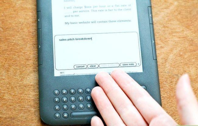 Prent getiteld Voeg notas by Kindle Stap 6