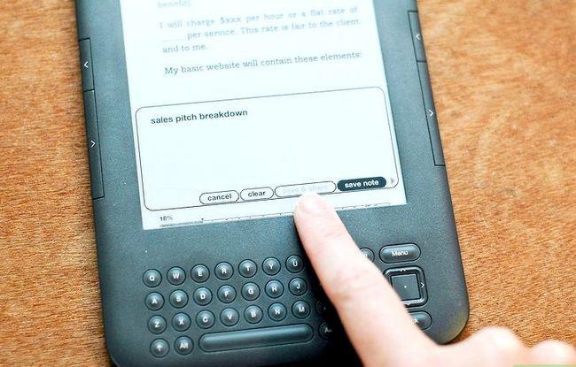 Prent getiteld Voeg notas by Kindle Stap 8