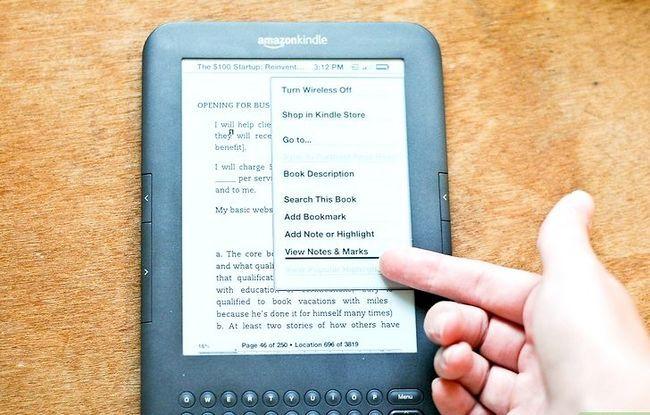 Prent getiteld Voeg notas by aan Kindle Stap 9