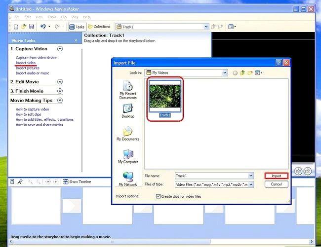 Prent titel Voeg ondertitels by `n film in Windows Movie Maker Stap 1