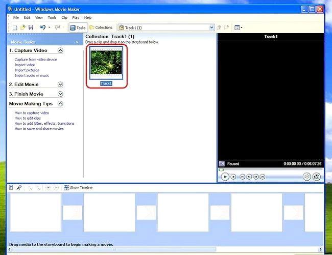 Prent titel Voeg ondertitels by `n film in Windows Movie Maker Stap 1Bullet1