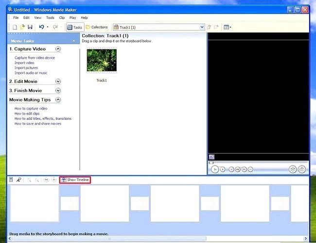 Prent titel Voeg ondertitels by `n film in Windows Movie Maker Stap 2