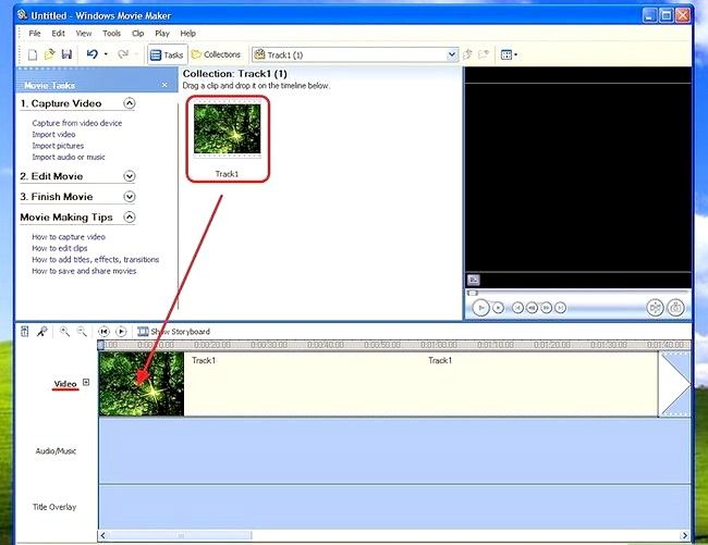 Prent titel Voeg ondertitels by `n film in Windows Movie Maker Stap 3