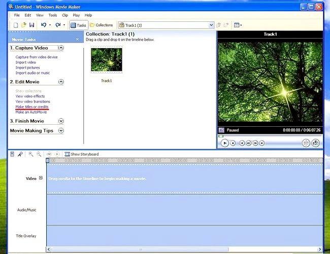 Prent titel Voeg ondertitels by `n film in Windows Movie Maker Stap 4
