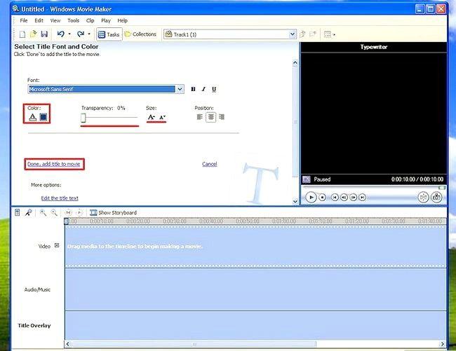 Prent titel Voeg ondertitels by `n film in Windows Movie Maker Stap 4Bullet2