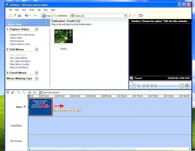 Prent titel Voeg ondertitels by `n film in Windows Movie Maker Stap 5