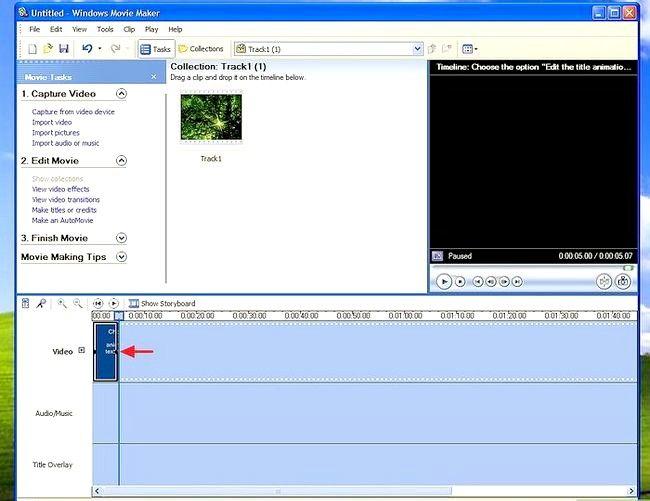 Prent titel Voeg ondertitels by `n film in Windows Movie Maker Stap 6