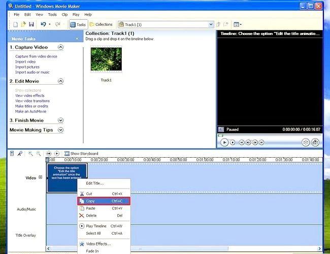 Prent titel Voeg ondertitels by `n film in Windows Movie Maker Stap 7