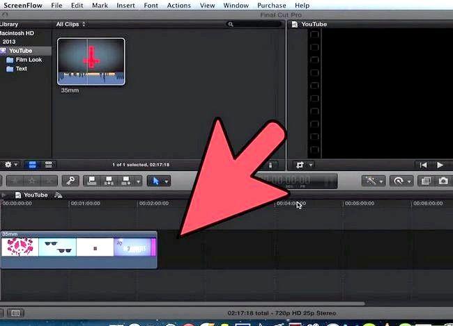 Prent getiteld Voeg teks oor video in Final Cut Pro Stap 1