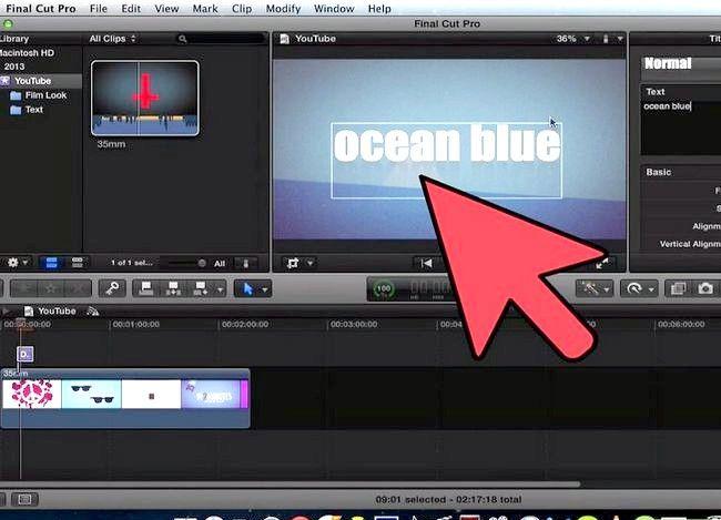 Prent getiteld Voeg teks oor video in Final Cut Pro Stap 11