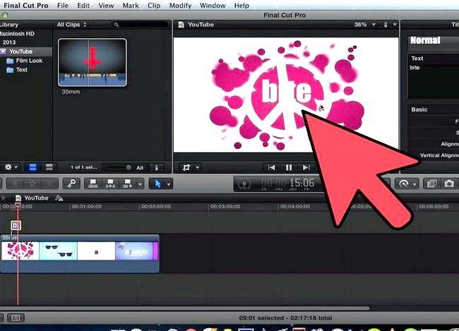 Prent getiteld Voeg teks oor video in Final Cut Pro Stap 12