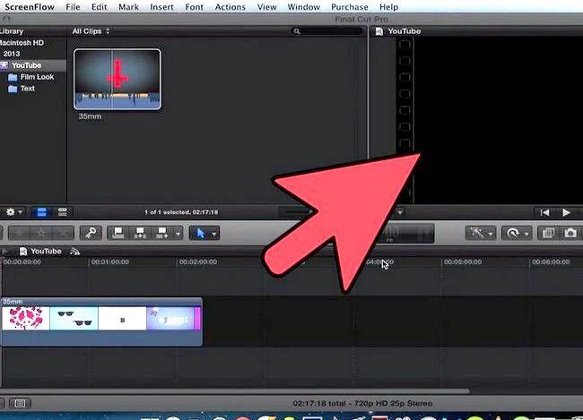 Prent getiteld Voeg teks oor video in Final Cut Pro Stap 2