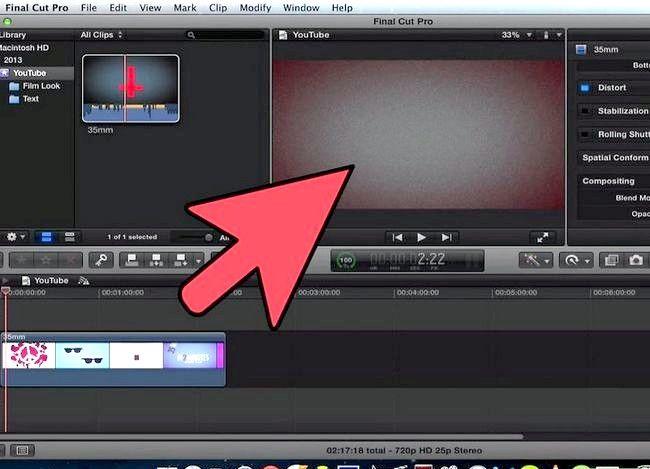 Prent getiteld Voeg teks oor video in Final Cut Pro Stap 4