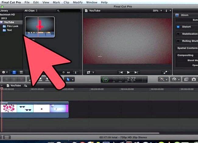 Prent getiteld Voeg teks oor video in Final Cut Pro Stap 5