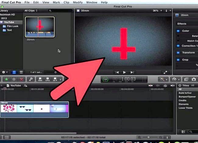 Prent getiteld Voeg teks oor video in Final Cut Pro Stap 6