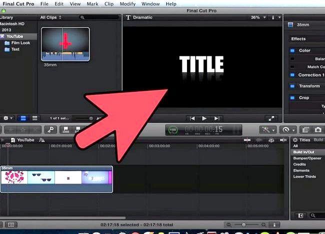 Prent getiteld Voeg teks oor video in Final Cut Pro Stap 7