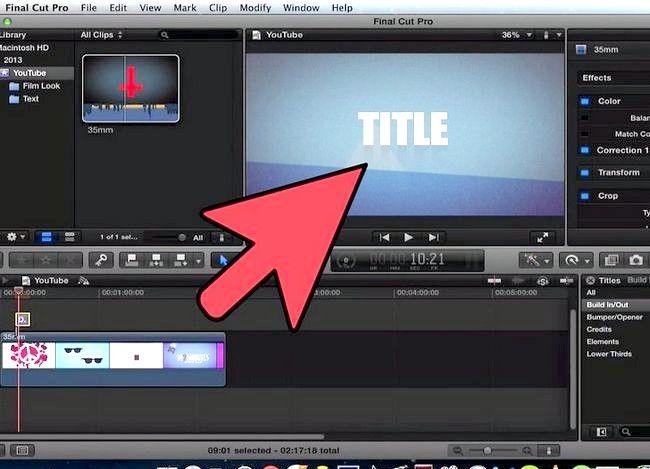 Prent getiteld Voeg teks oor video in Final Cut Pro Stap 9