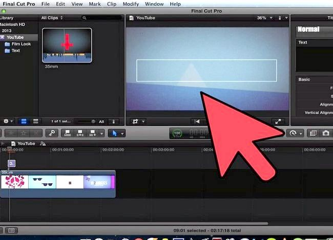 Prent getiteld Voeg teks oor video in Final Cut Pro Stap 10