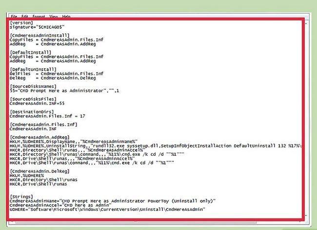 Prentjie getiteld Voeg `n oop opdragprompt hier as administrateur by Snelkoppeling na die konteks kieslys in Windows 7 en Windows Vista Stap 2
