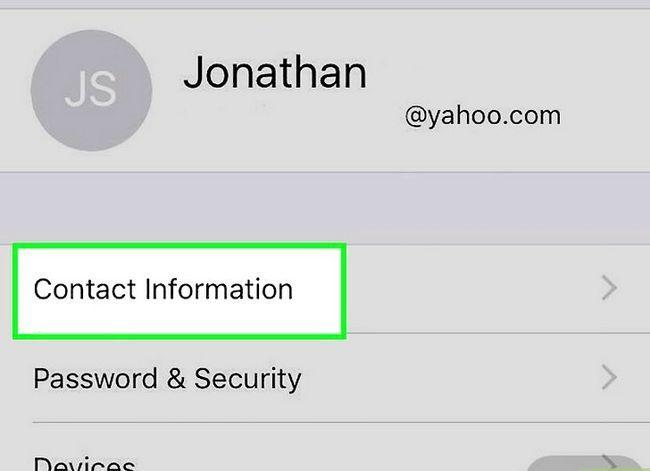 Prent getiteld Voeg `n telefoonnommer by jou Apple ID op `n iPhone Stap 4