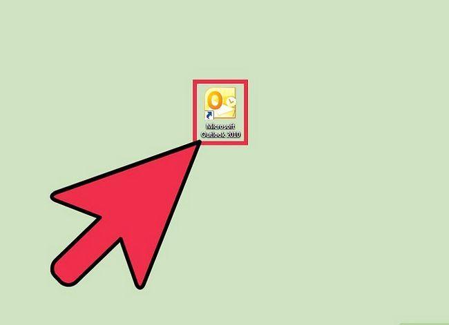 Prent getiteld Voeg `n PST by Outlook 2010 Stap 1