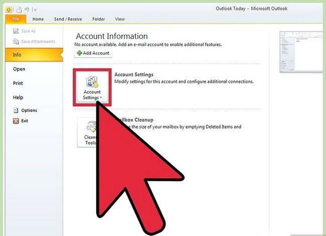 Prent getiteld Voeg `n PST by Outlook 2010 Stap 3