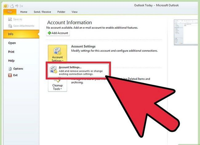 Prent getiteld Voeg `n PST by Outlook 2010 Stap 4