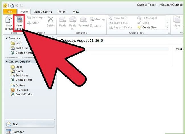 Prent getiteld Voeg `n PST by Outlook 2010 Stap 10