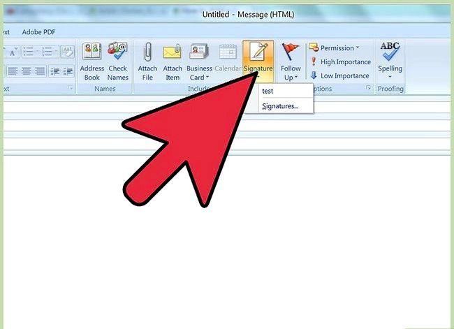 Prent getiteld Voeg `n handtekening in Microsoft Outlook Stap 6