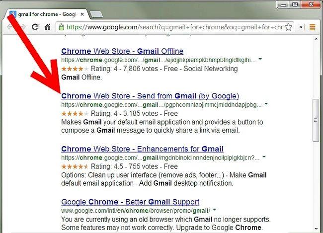 Prent getiteld Voeg `n Gmail-knoppie by Chrome Stap 1