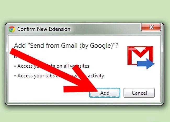 Prent getiteld Voeg `n Gmail-knoppie by Chrome Stap 3