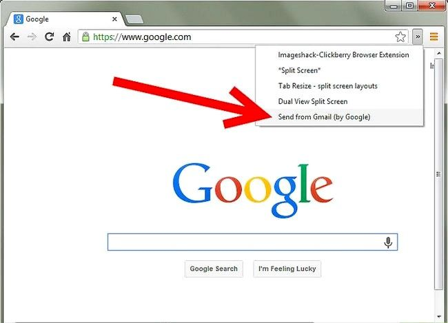 Prent getiteld Voeg `n Gmail-knoppie by Chrome Stap 4