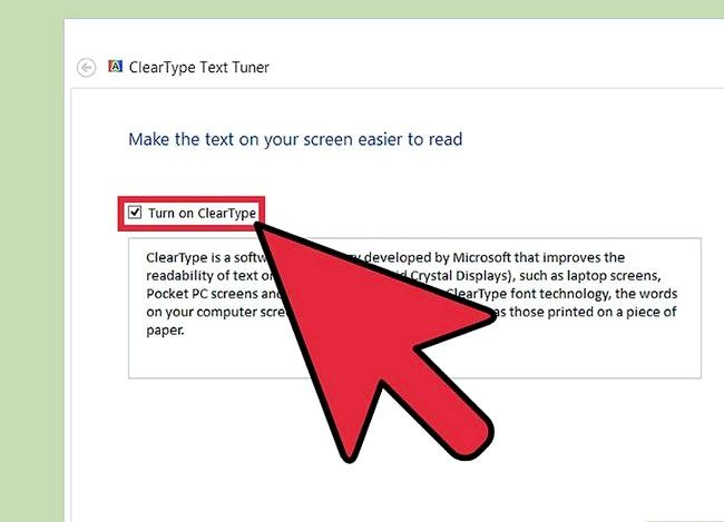 Prent getiteld Pas Cleartype-teks in Windows 8 Stap 3 aan