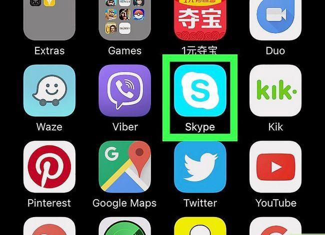 Prent getiteld Pas die volume op Skype op iPhone of iPad aan. Stap 1