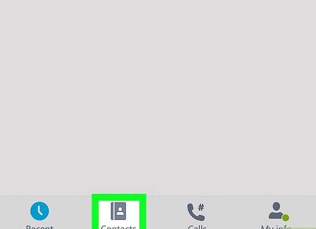 Prent getiteld Pas die volume op Skype op iPhone of iPad aan. Stap 2