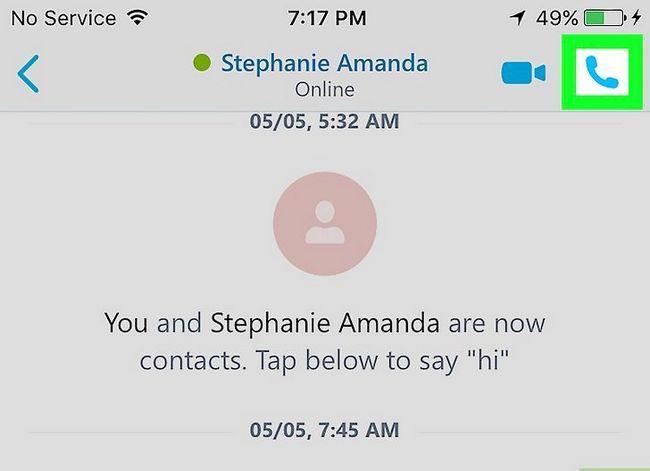 Prent getiteld Pas die volume op Skype op iPhone of iPad aan. Stap 4