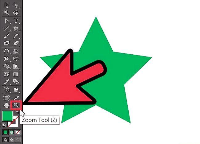 Prent getiteld Inzoomen in Adobe Illustrator Stap 1