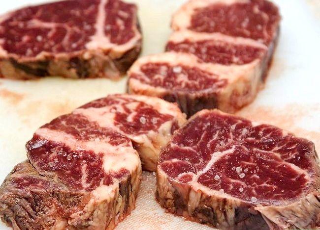 Prent getiteld Doen `n Steak Rub Stap 1