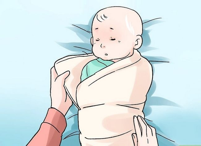 Prent getiteld Breastfeed a Colicky Baby Stap 7
