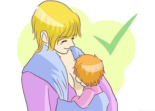 Prent getiteld Borsvoeding in `n Baby Carrier Stap 11