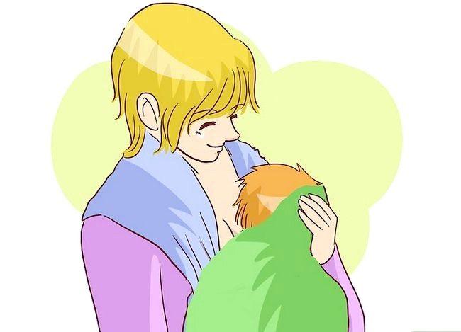 Prent getiteld Borsvoeding in `n Baby Carrier Stap 13