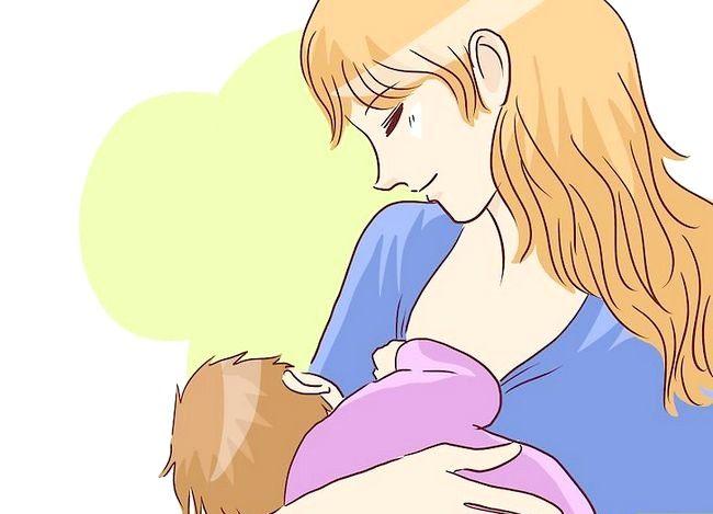 Prent getiteld Borsvoeding in `n Baby Carrier Stap 4